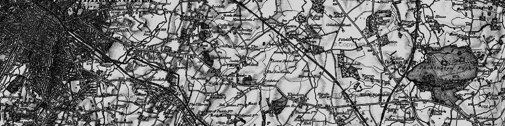 Old map of Sheldon in 1899