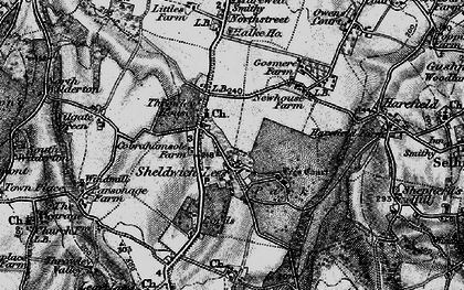 Old map of Badlesmere Court in 1895