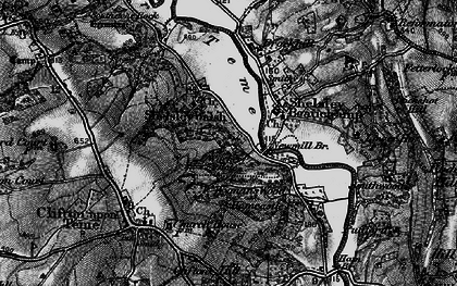 Old map of Weyman's Wood in 1898