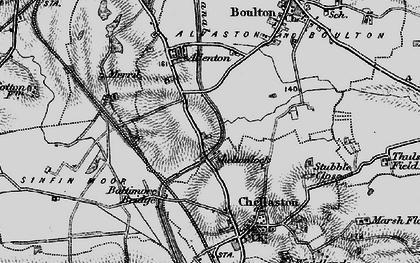 Old map of Shelton Lock in 1895