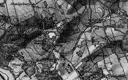 Old map of Shenley in 1896