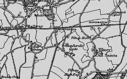 Old map of Balsamfield Ho in 1893