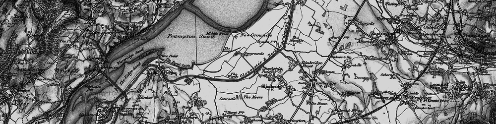 Old map of Wildfowl Trust, The in 1897