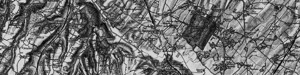 Old map of Shepherdswell in 1895