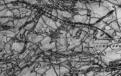 Old map of Shepley in 1896