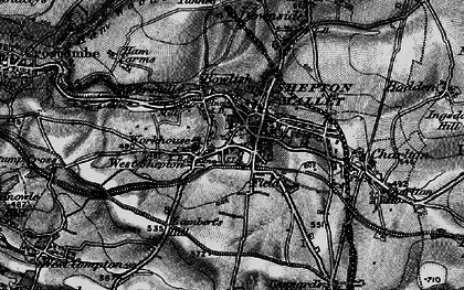 Old map of Shepton Mallet in 1898