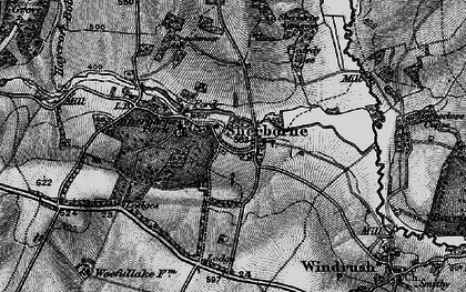 Old map of Sherborne in 1896