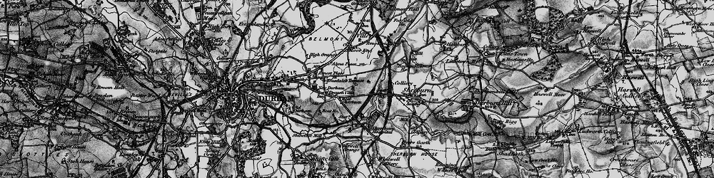 Old map of Whitwell Grange in 1898