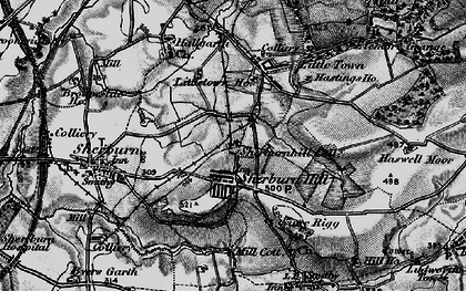 Old map of Sherburn Hill in 1898