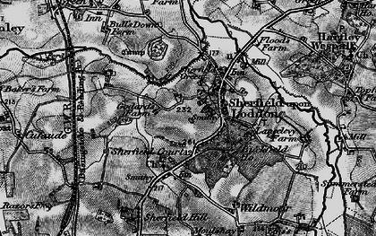 Old map of Sherfield on Loddon in 1895