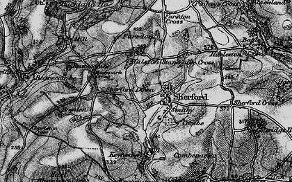 Old map of Sherford in 1897