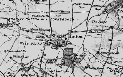 Old map of Sheriff Hutton in 1898