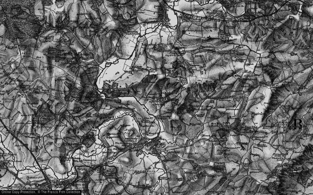 Old Map of Sherington, 1896 in 1896