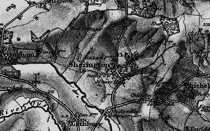 Old map of Sherington in 1896