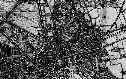 Old map of Shieldfield in 1898