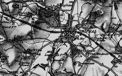 Old map of Shifnal in 1897