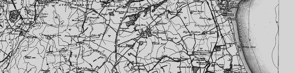 Old map of Shilbottle in 1897
