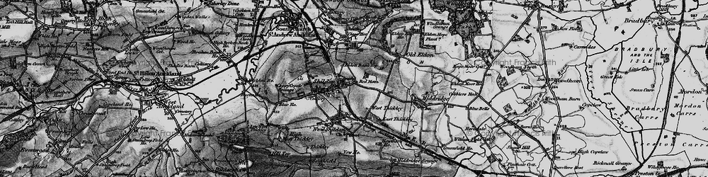 Old map of Shildon in 1897