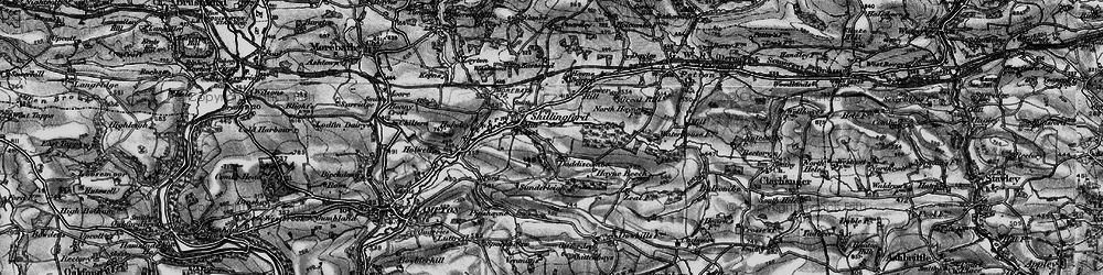 Old map of Whittenhays in 1898