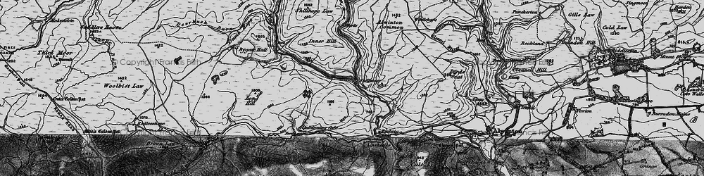 Old map of Wholehope Knowe in 1897