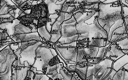 Old map of Aveley Wood in 1895