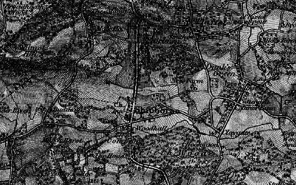 Old map of Shipbourne in 1895