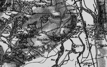 Old map of Shiplake in 1895