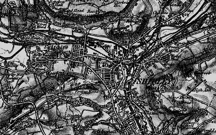 Old map of Shipley in 1898