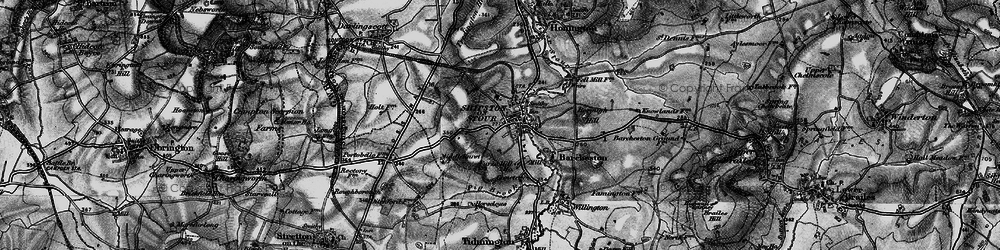 Old map of Shipston-on-Stour in 1898