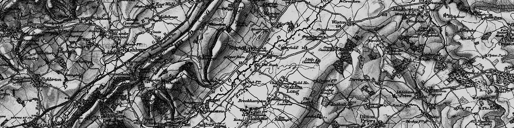 Old map of Shipton in 1899