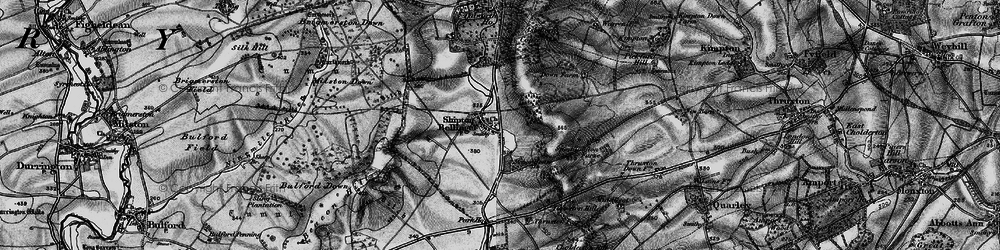 Old map of Althorne in 1898