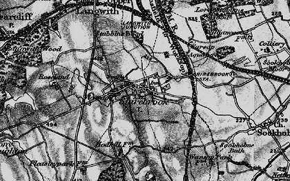 Old map of Shirebrook in 1899