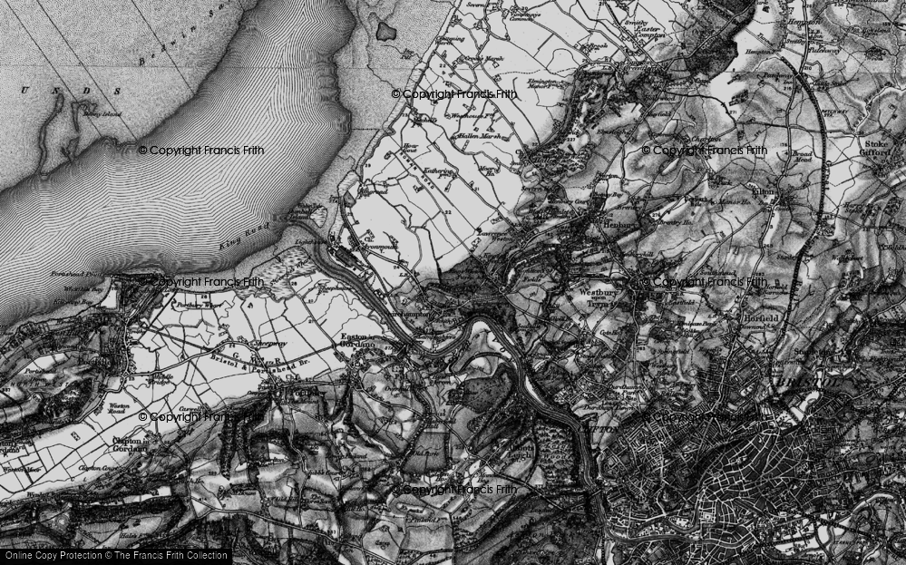 Old Map of Shirehampton, 1898 in 1898