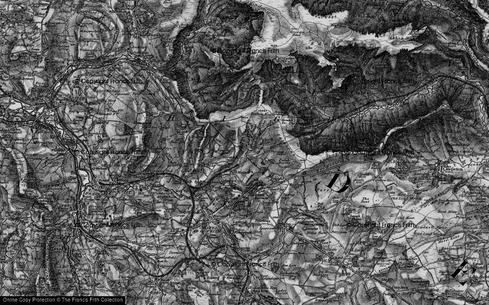 Old Map of Historic Map covering Toot Hill in 1896