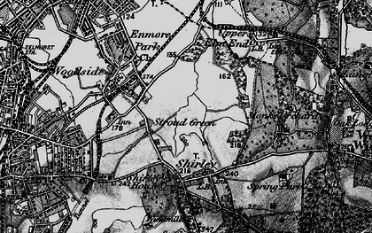 Old map of Shirley in 1895