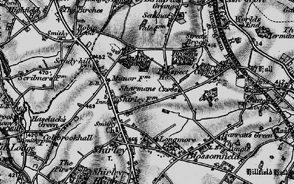 Old map of Shirley in 1899