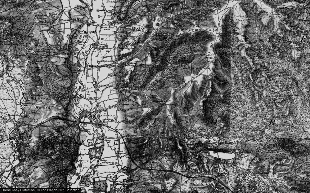 Old Map of Shobley, 1895 in 1895