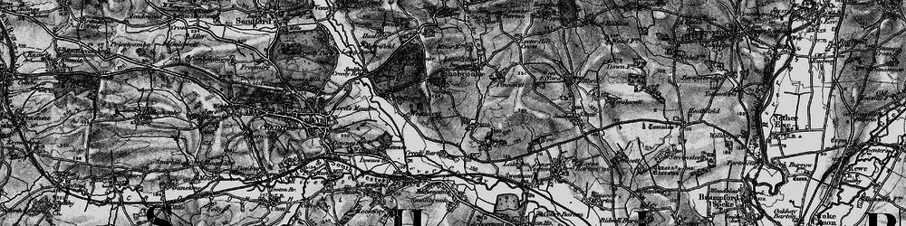 Old map of Westacott Cotts in 1898