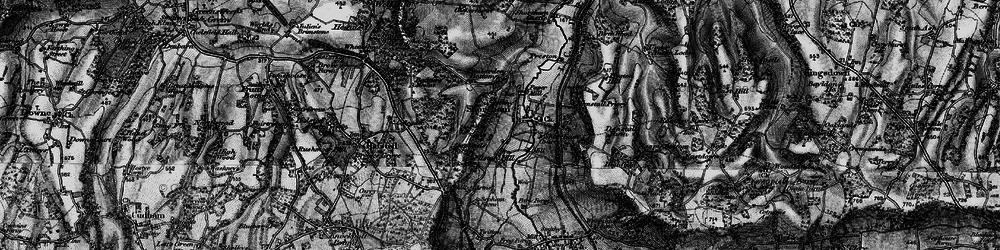 Old map of Shoreham in 1895