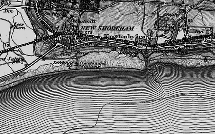 Old map of Shoreham-By-Sea in 1895