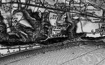 Old map of Shorncliffe Camp in 1895