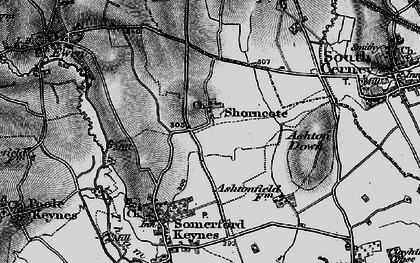 Old map of Ashton Down in 1896