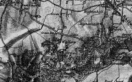 Old map of Shorne in 1895