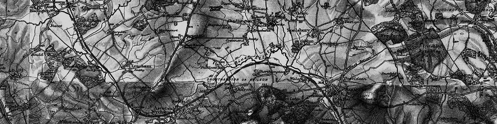 Old map of Shorthampton in 1896