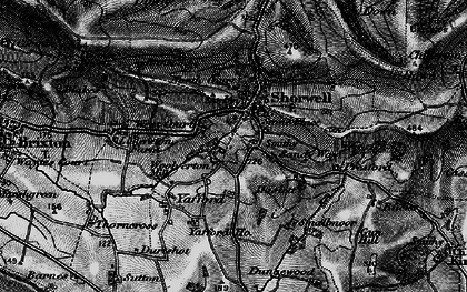 Old map of Shorwell in 1895