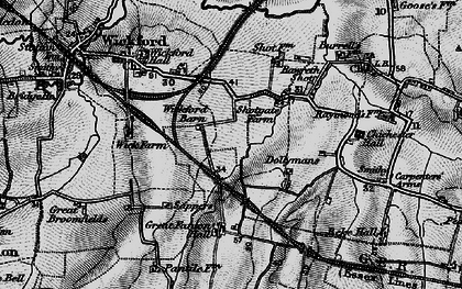 Old map of Shotgate in 1896