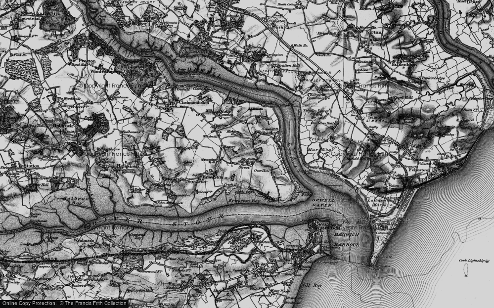 Old Map of Shotley, 1896 in 1896