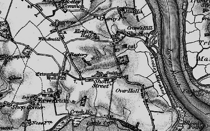 Old map of Shotley in 1896