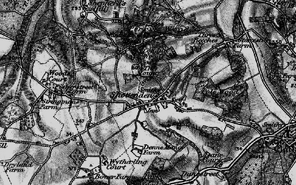 Old map of Woods Court in 1895