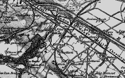 Old map of Shotton in 1896
